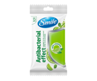 Şerveţele umede Smile, antibacteriale cu vitamine, 15 buc.