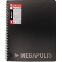 EKRAUSE Папка с файлами EKRAUSE Megapolis А4/20 спираль, черная