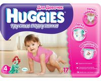 Трусики Huggies Little Walkers Girl 4 (9-14 кг.) 17 шт.
