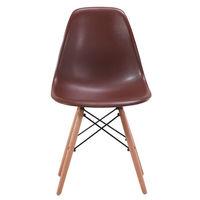 Деревянный стул с металлическими ножками, 500x460x450x820 мм, кофе
