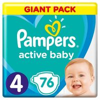Pampers Подгузники Giant Pack 4, 9-16 kг, 76 шт.