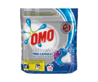 Omo Ultimate Trio Capsule Active Clean, 15 шт.