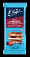 Молочный шоколад Wedel Blueberry and Strawberry, 100г