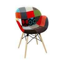 купить Пластиковый стул с обивкой, деревянные ножки 600x580x840 мм в Кишинёве
