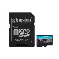 512GB microSD Class10 UHS-I U3 (V30) Kingston Canvas Cangas Go Plus, Ultimate, Read: 170Mb/s, Write: 90Mb/s, Ideal for Android mobile devices, action cams, drones and 4K video production