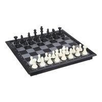 Настольная игра Шахматы магнитные Silapro, доска черно-белая 24х24 см, 5210567