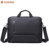 Mужская сумка Aoking GM70939 для ноутбука дo 15.6'', водонепроницаемая, чёрный