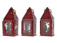 купить Фонарь подвесной красный 7X7X16cm (олень/елка/ангел) в Кишинёве