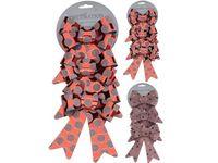 купить Банты декоративные 3шт, 18X14cm, красные в горошек  в Кишинёве
