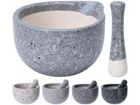 Ступка и пестик EH 330ml 11X10cm, керамика, серый