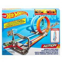 Mattel Hot Wheels Портативный трек Двойная петля