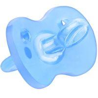 Пустышка силиконовая литая Wee baby (0-6 мес) голубая