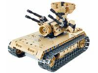 8012, XTech Bricks: 2in1, Tank & Anti-aircraft, R/C 4CH, 457 pcs