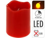 Свеча LED 9X7сm, таймер, красная