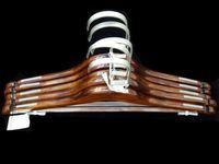 купить Набор вешалок деревянных 5шт 45-41.5cm, темный в Кишинёве
