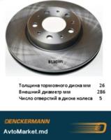 S60 80 XC70 1998-2006 Диск тормозной 286x26