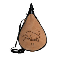 Бурдюк прямой Laken Leather Canteen Straight Form 1,0 L, PK1000-R