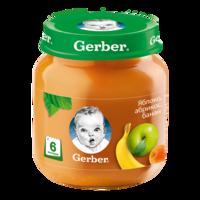 Pireu Gerber de măr, caisă și banană (6+ luni), 130g