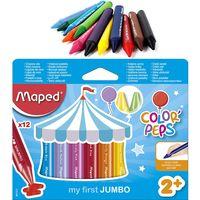 MAPED Карандаши восковые MAPED Jumbo, 12 цветов