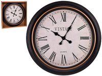 Часы настенные круглые D60cm, H5cm, пластик, темное золото