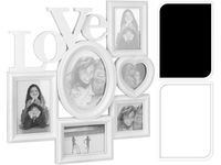 """купить Фоторамка - коллаж 6фото """"Love"""" (разные формы) белая/черная в Кишинёве"""