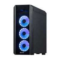 Case ATX Chieftec SCORPION III, w/o PSU, 4x120mm RGB, 2xUSB3.0, 1xUSB2.0, 2xTemperd Glass, Black
