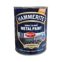 Hammerite Краска для металла Красная гладкая 0.75л