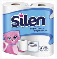 Silen туалетная бумага, 4 рулона, 2 слоя