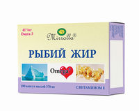 Ulei de pește cu vitaminele E capsule 0,37 g № 100