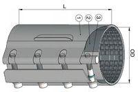 купить Хомут ремонтный dn 176-186мм PN16, L=300mm (однополосный) WATO в Кишинёве