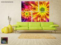 Цветы 0001 - Триптих  из 4 частей