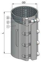 купить Хомут ремонтный dn 102-112мм PN16, L=250mm (однополосный) WATO в Кишинёве