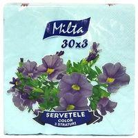 MILTA Салфетки столовые Milta 33x33см 3-сл., 30 штук голубые