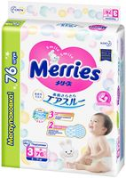 Подгузники Merries M (6-11 kg) 76 шт