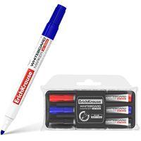 EKRAUSE Набор маркеров для досок EKRAUSE W500, 3 цв.+ стиратель