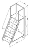 купить Лестница платформа Gama Cirrus 1398x1223x700 мм,  5+1 ступений в Кишинёве