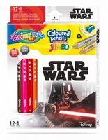 Цветные карандаши Jumbo - Colorino Disney Star Wars