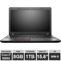 "Ноутбук Lenovo ThinkPad E550 (15,6"" i7 5500U HDGraphics 8GB 1TB Win8) Black"