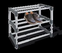 Полка для обуви пласт серый/тем-серый ПЛТ164