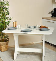 Стол Кухонный Раскладной Белый ясень