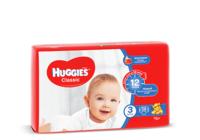Подгузники Huggies Classic Small 3 (4-9 кг), 58 шт.
