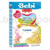 Bebi молочная каша Premium 7 злаков 200gr.(6+)