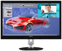 """27.0"""" Philips """"272P4QPJKEB"""", Black (PLS, 2560x1440, 6ms, 300cd, LED20M:1, DVI,HDMI,DP, WebCam, HAS) (27.0"""" PLS LED, 2560x1440 WQHD, 0.233mm, 12 ms (SmartResponse: 6ms GTG), 300 cd/m², DCR 20 Mln:1 (1000:1), 16.7M Colors (True 8-bit), 178°/178° @C/R>10, 30-90 kHz(H)/56-75 Hz(V), DisplayPort + HDMI x2 + DVI-Dual Link, Stereo Audio-In, Headphone-Out, Built-in speakers 2Wx2, Built-in 2.0-Mpix webcamera w/microphone and LED indictor, USB 2.0 x3-Hub, Built-in PSU, HAS 150mm, Tilt: -5°/+20°, Swivel +/-65°, Pivot, VESA Mount 100x100, MultiView, PowerSensor, Black )"""