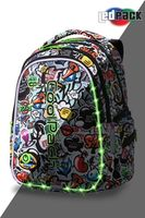 Rucsac CoolPack Joy M LED Graffiti (41x29x20)