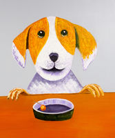Oil Paintings Hungry dog (ANI15000949)