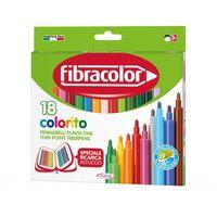 Carioci Fibracolor 18 culori lavabile