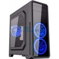 Корпус ATX GAMEMAX G561, без БП, 3x120мм, синий светодиод, прозрачная панель, USB3.0, черный