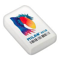 MILAN 4018, Ластик прямоугольный с полноцветным рисунком (синтетический каучук)