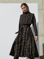 Платье Massimo Dutti Черный с принтом 6612/833/916