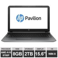 "Ноутбук HP Pavilion 15-ab066na (15,6"" AMD A10 8700P 8GB 2TB Win8)Silver"